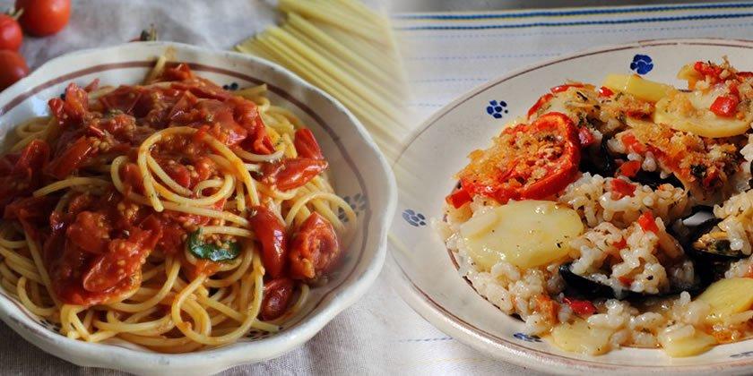 Spaghetti alla San Giovaniello e Riso, patate e cozze
